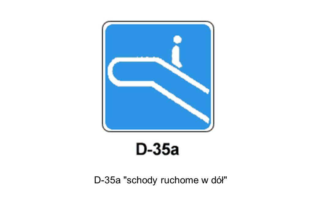 D-35a schody ruchome w dół
