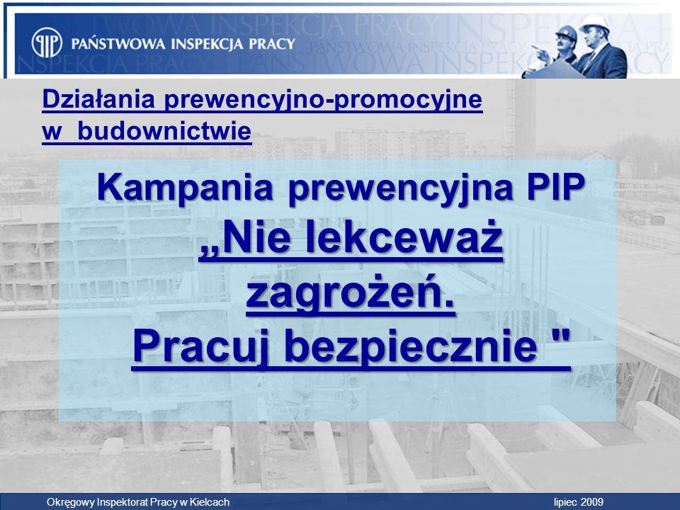 """Kampania prewencyjna PIP """"Nie lekceważ zagrożeń. Pracuj bezpiecznie"""