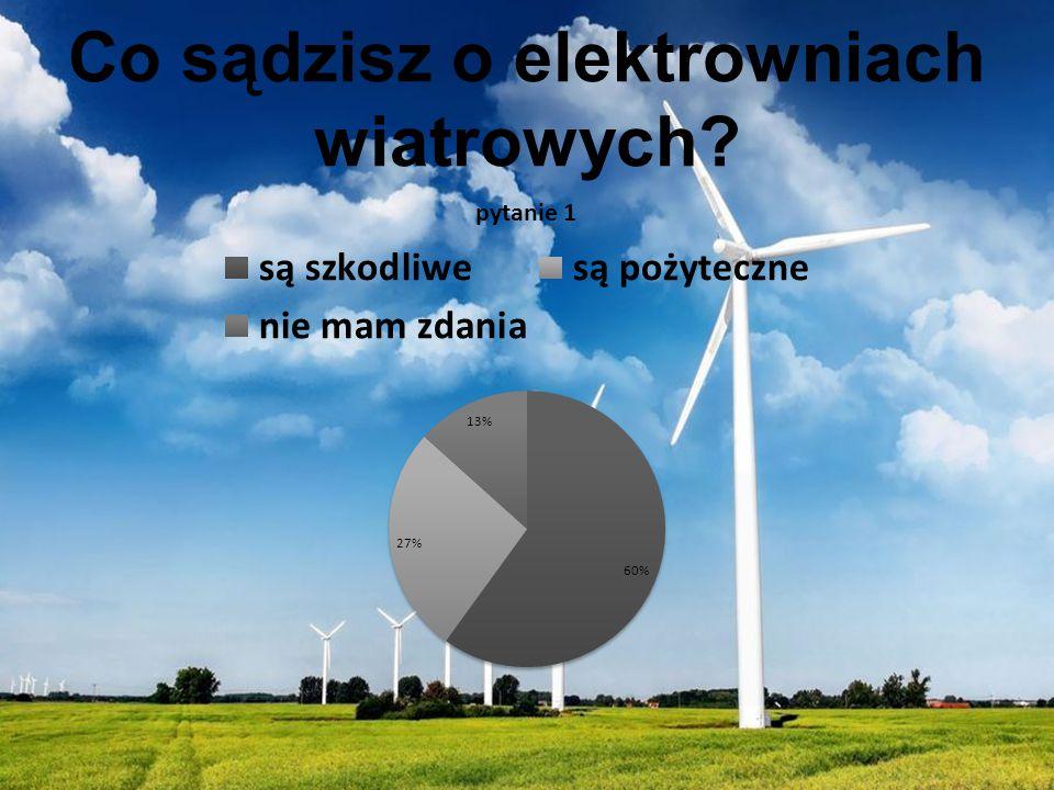 Co sądzisz o elektrowniach wiatrowych