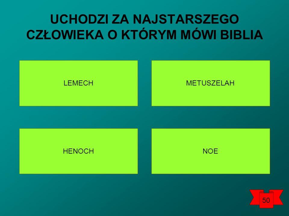 UCHODZI ZA NAJSTARSZEGO CZŁOWIEKA O KTÓRYM MÓWI BIBLIA