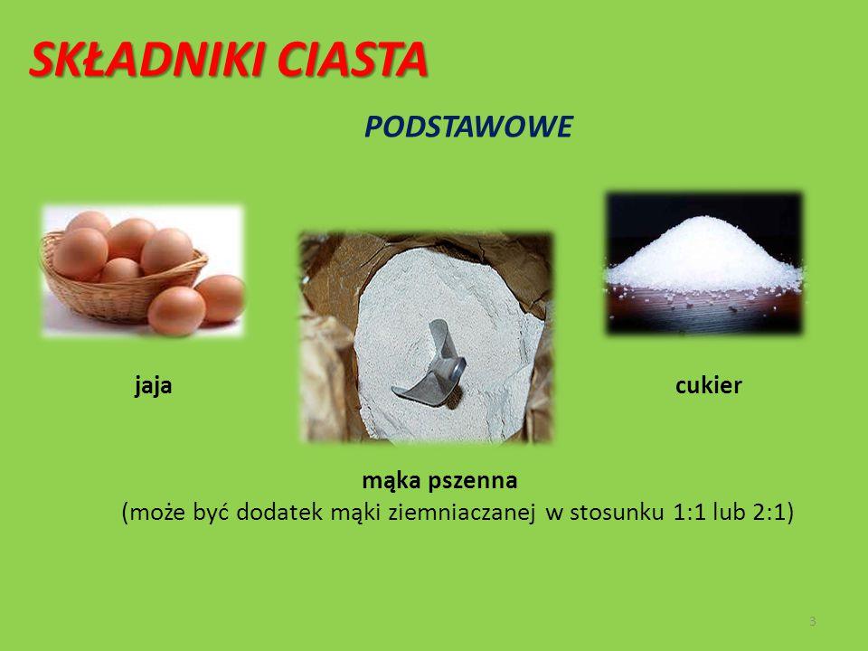 (może być dodatek mąki ziemniaczanej w stosunku 1:1 lub 2:1)