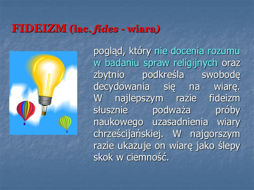 FIDEIZM (łac. fides - wiara)