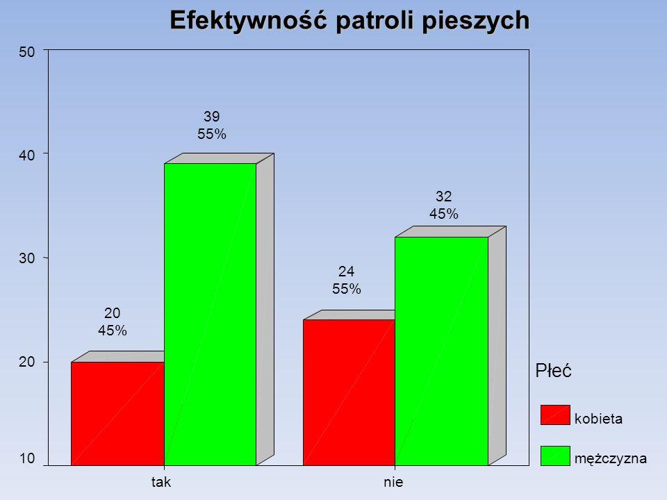 Efektywność patroli pieszych