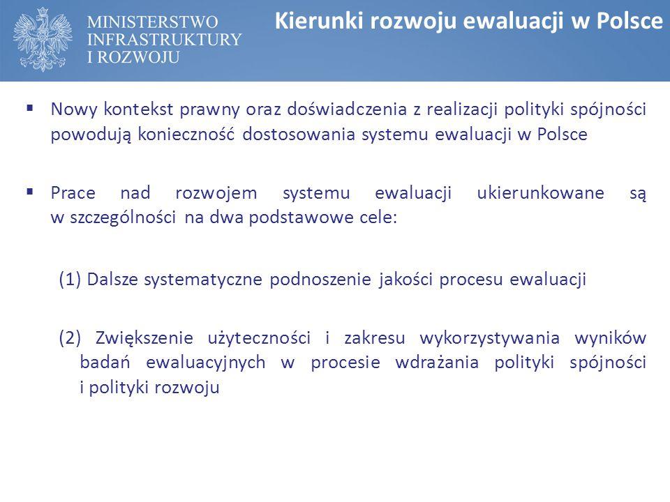 Kierunki rozwoju ewaluacji w Polsce
