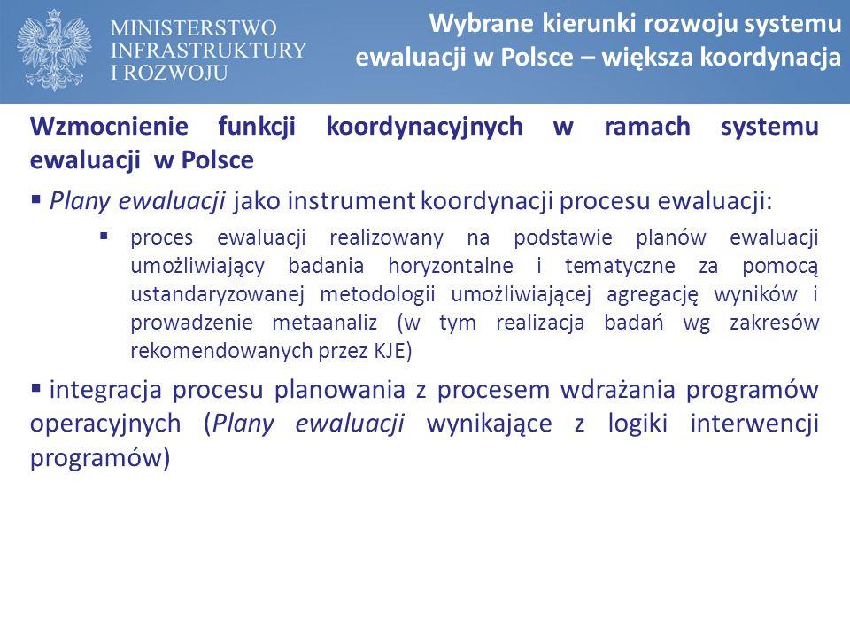 Plany ewaluacji jako instrument koordynacji procesu ewaluacji: