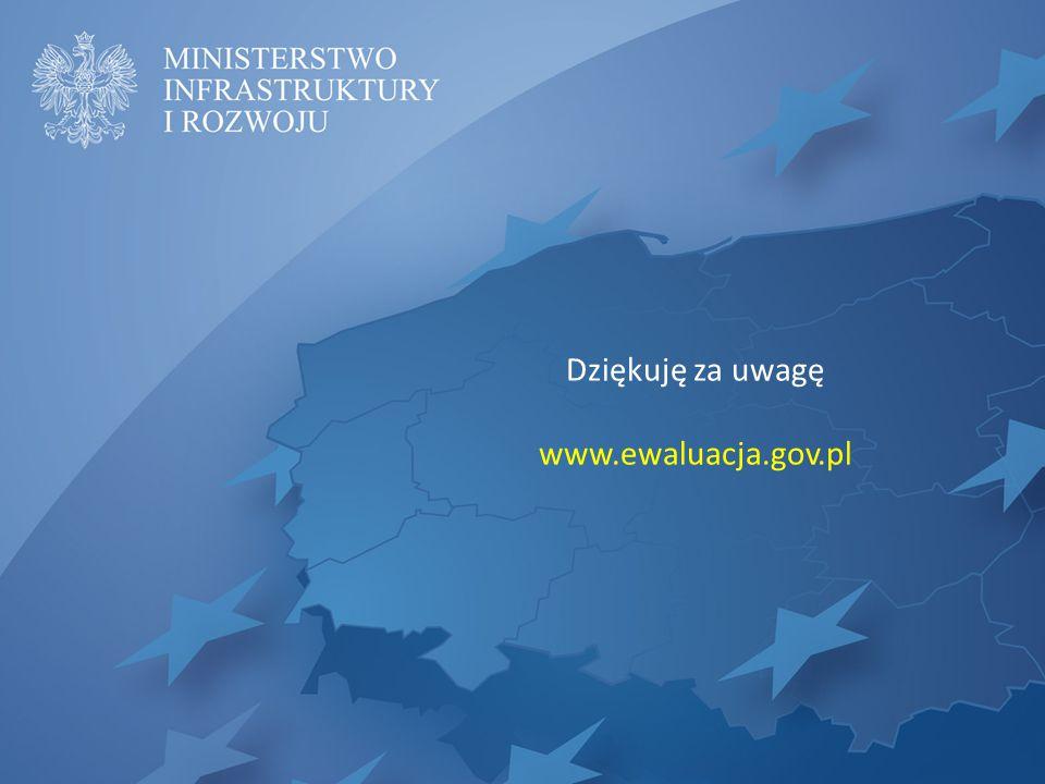 Dziękuję za uwagę www.ewaluacja.gov.pl
