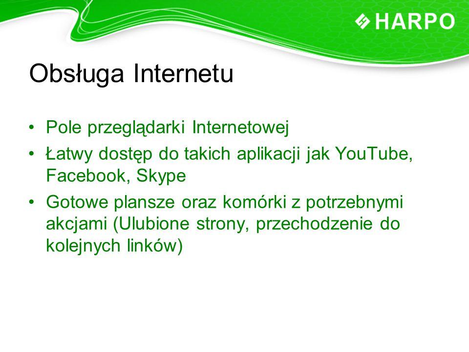 Obsługa Internetu Pole przeglądarki Internetowej