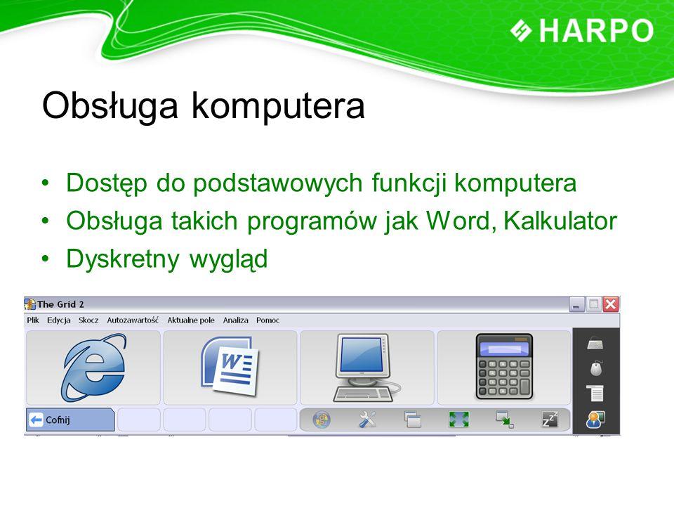 Obsługa komputera Dostęp do podstawowych funkcji komputera