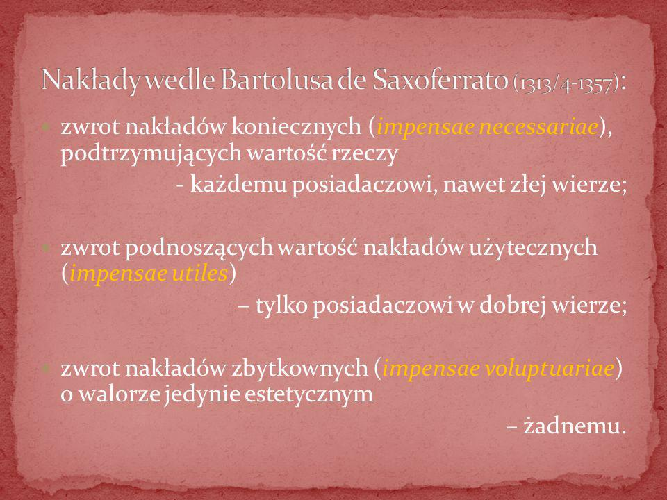 Nakłady wedle Bartolusa de Saxoferrato (1313/4-1357):