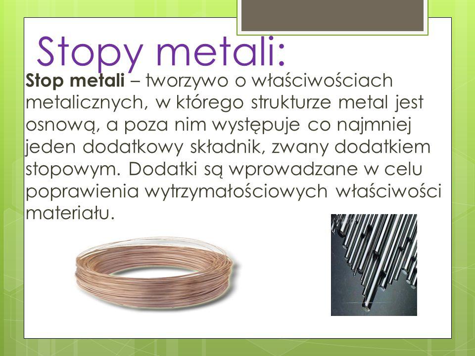 Stopy metali: