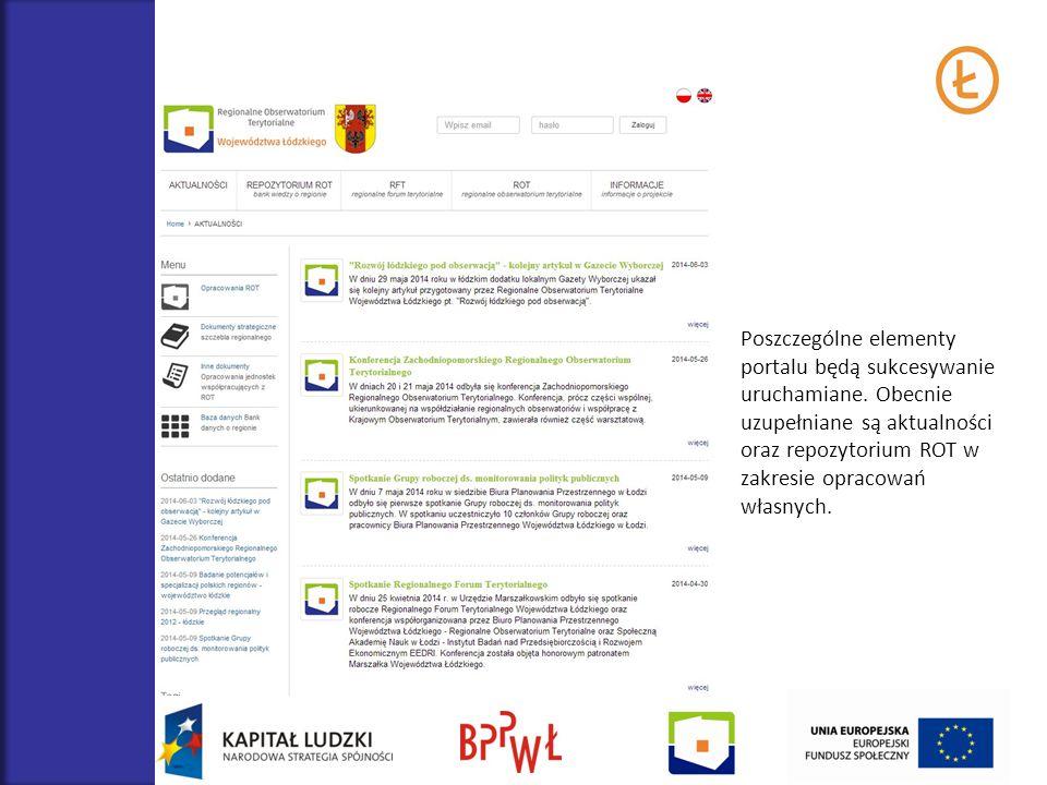 Poszczególne elementy portalu będą sukcesywanie uruchamiane