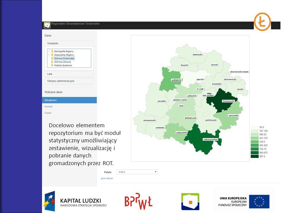 Docelowo elementem repozytorium ma być moduł statystyczny umożliwiający zestawienie, wizualizację i pobranie danych gromadzonych przez ROT.