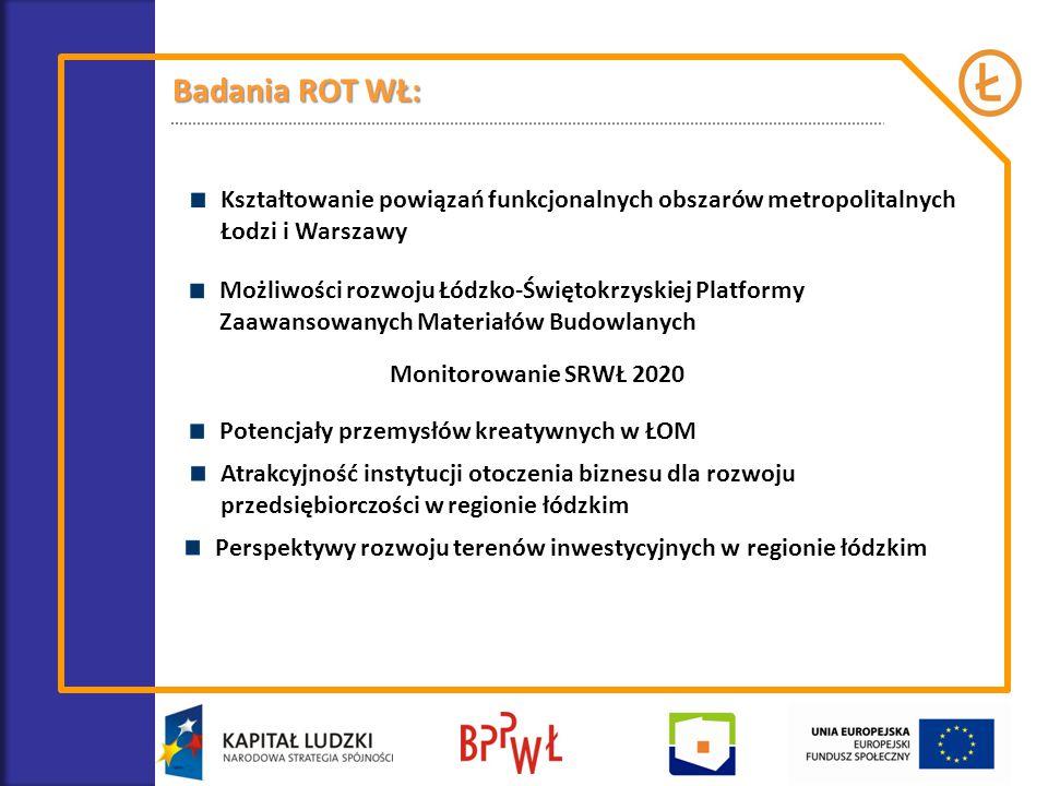 Badania ROT WŁ: Kształtowanie powiązań funkcjonalnych obszarów metropolitalnych Łodzi i Warszawy.