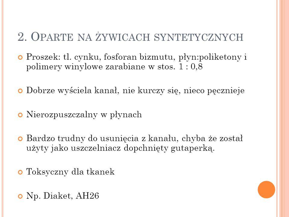 2. Oparte na żywicach syntetycznych