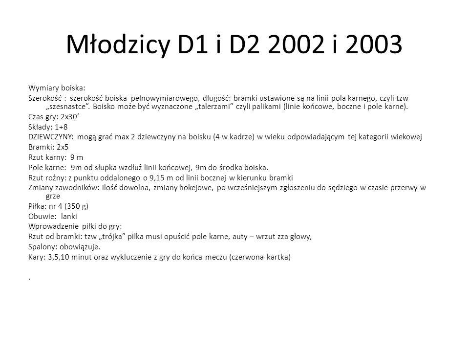 Młodzicy D1 i D2 2002 i 2003