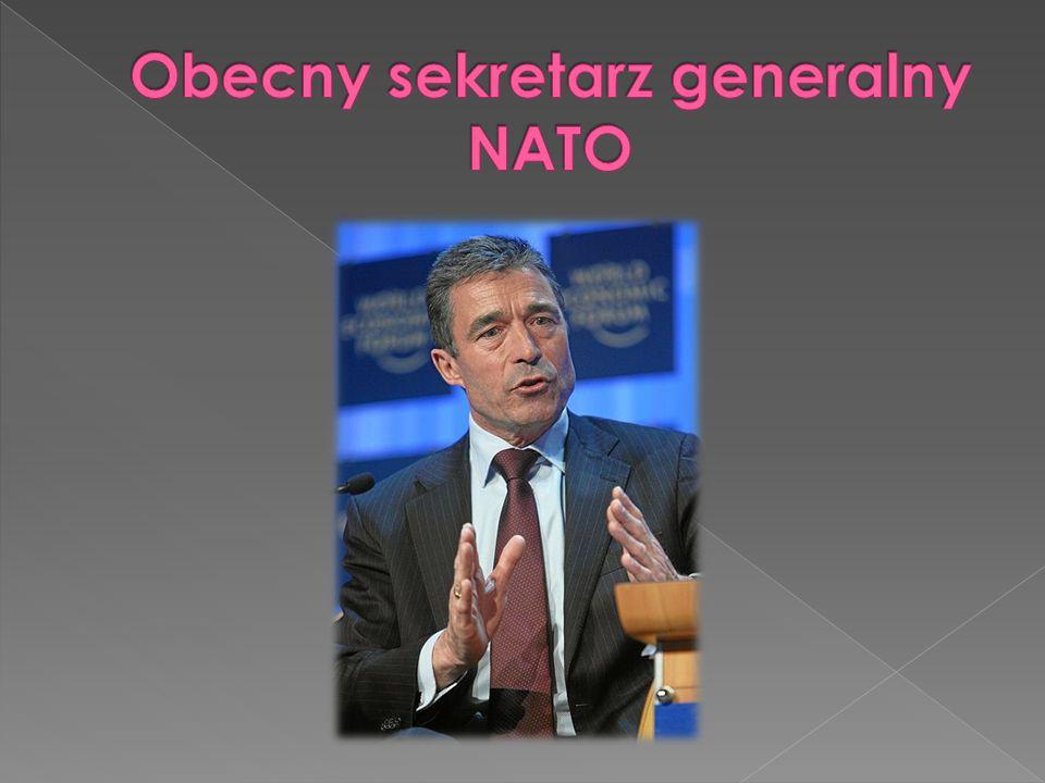 Obecny sekretarz generalny NATO