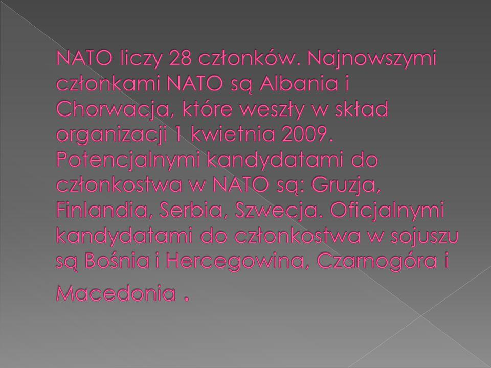 NATO liczy 28 członków.