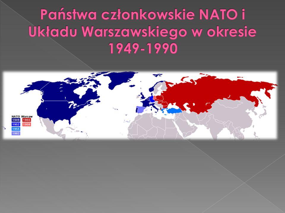 Państwa członkowskie NATO i Układu Warszawskiego w okresie 1949-1990