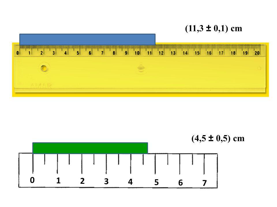 (11,3 ± 0,1) cm (4,5 ± 0,5) cm 1 2 3 4 5 6 7