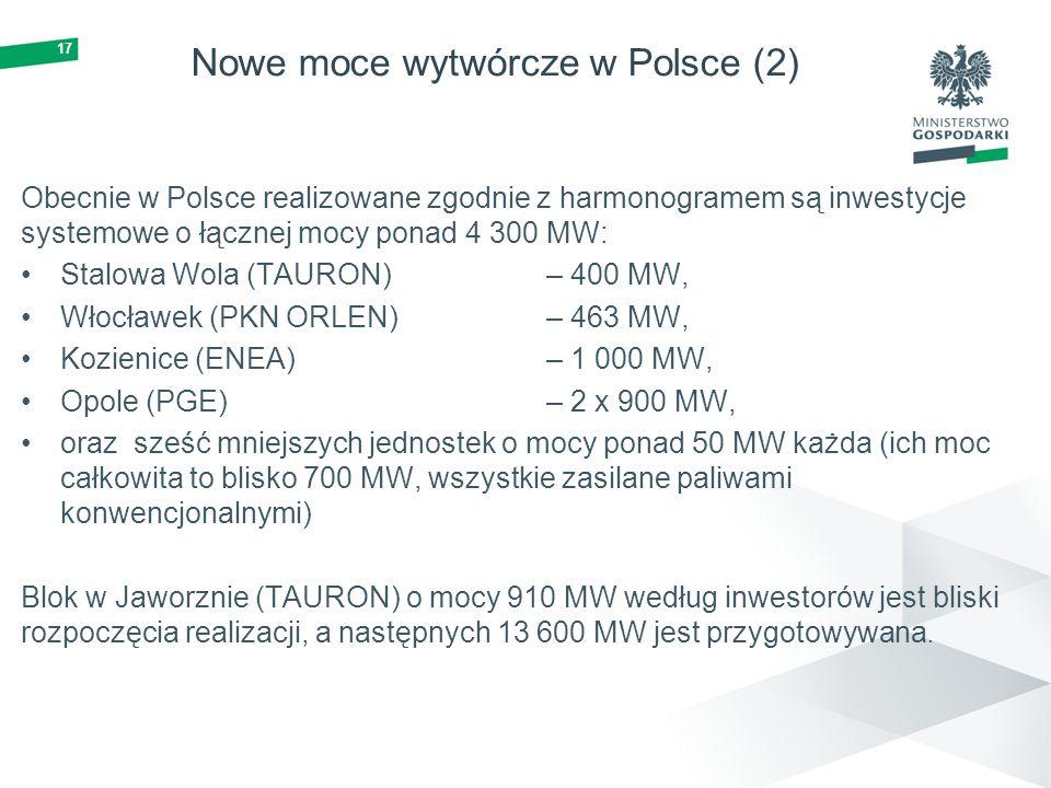 Nowe moce wytwórcze w Polsce (2)