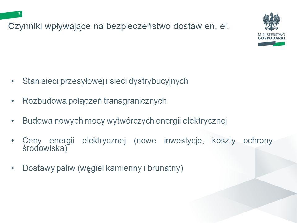 Czynniki wpływające na bezpieczeństwo dostaw en. el.