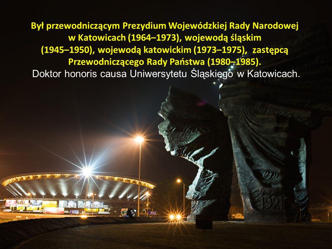 Był przewodniczącym Prezydium Wojewódzkiej Rady Narodowej w Katowicach (1964–1973), wojewodą śląskim