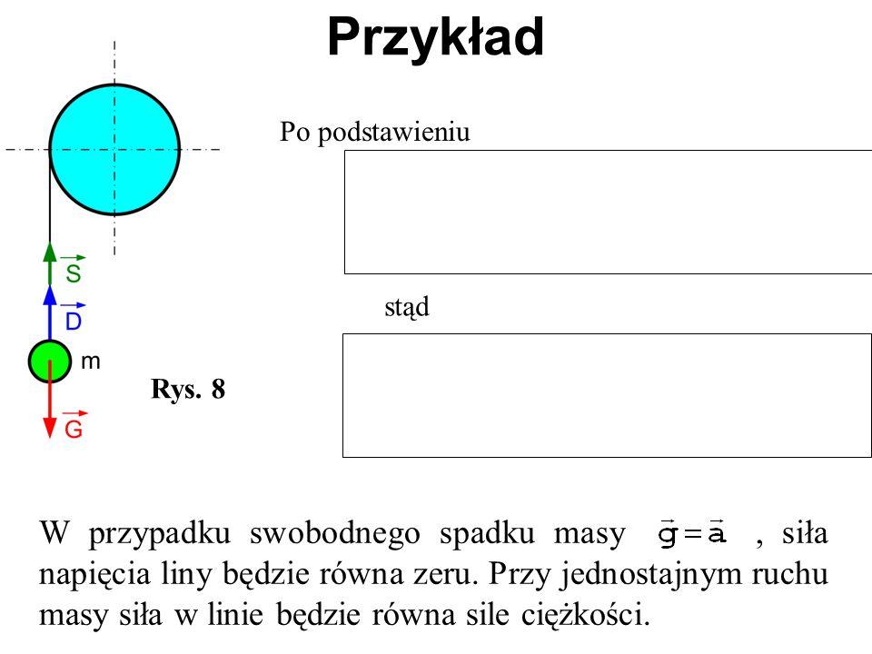 Przykład Po podstawieniu. stąd. Rys. 8.