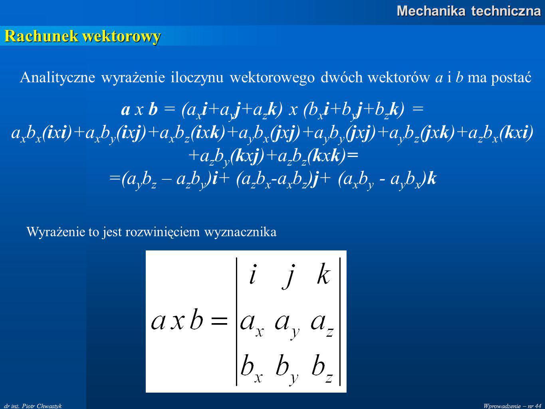 =(aybz – azby)i+ (azbx-axbz)j+ (axby - aybx)k