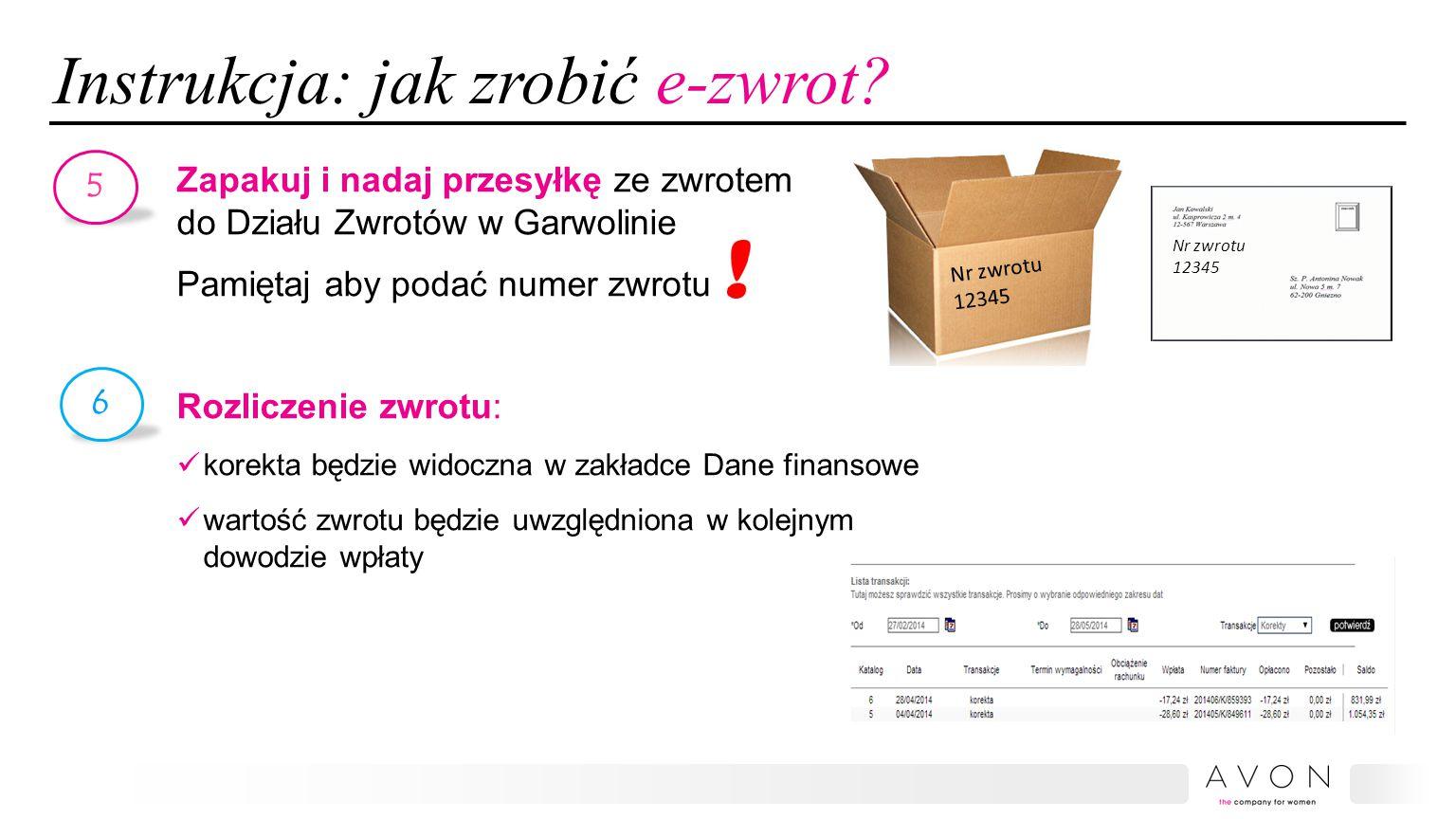 Instrukcja: jak zrobić e-zwrot