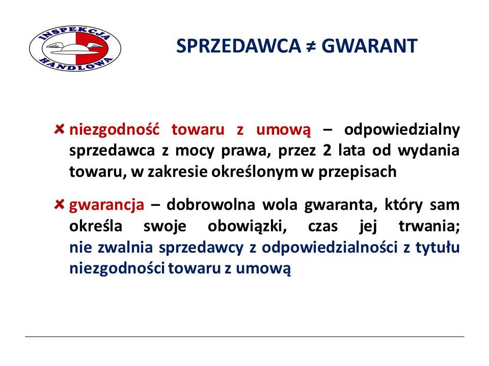 2017-04-07 SPRZEDAWCA ≠ GWARANT.
