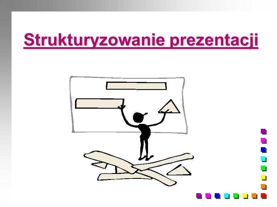 Strukturyzowanie prezentacji