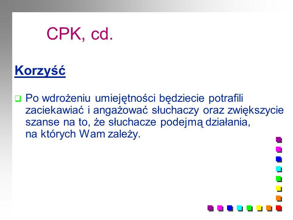 CPK, cd. Korzyść.