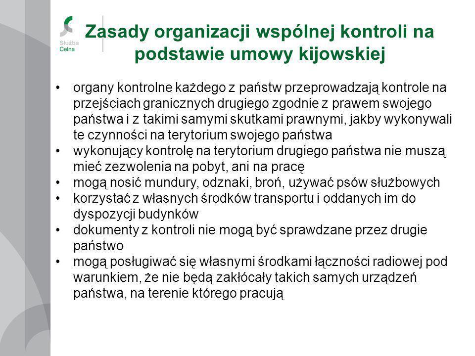 Zasady organizacji wspólnej kontroli na podstawie umowy kijowskiej