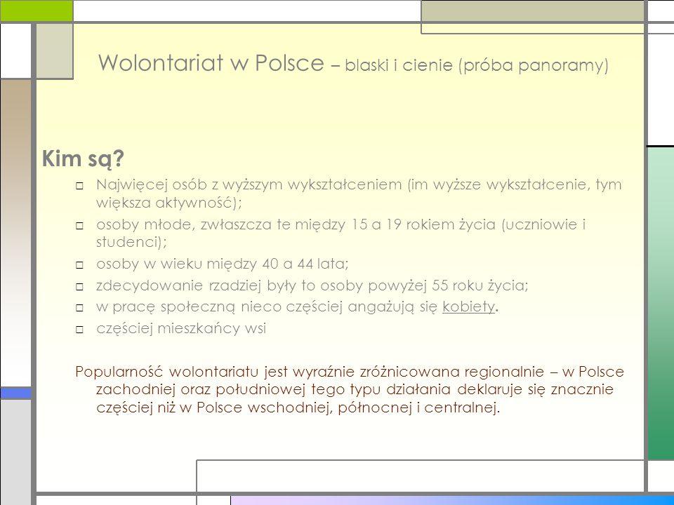 Wolontariat w Polsce – blaski i cienie (próba panoramy)