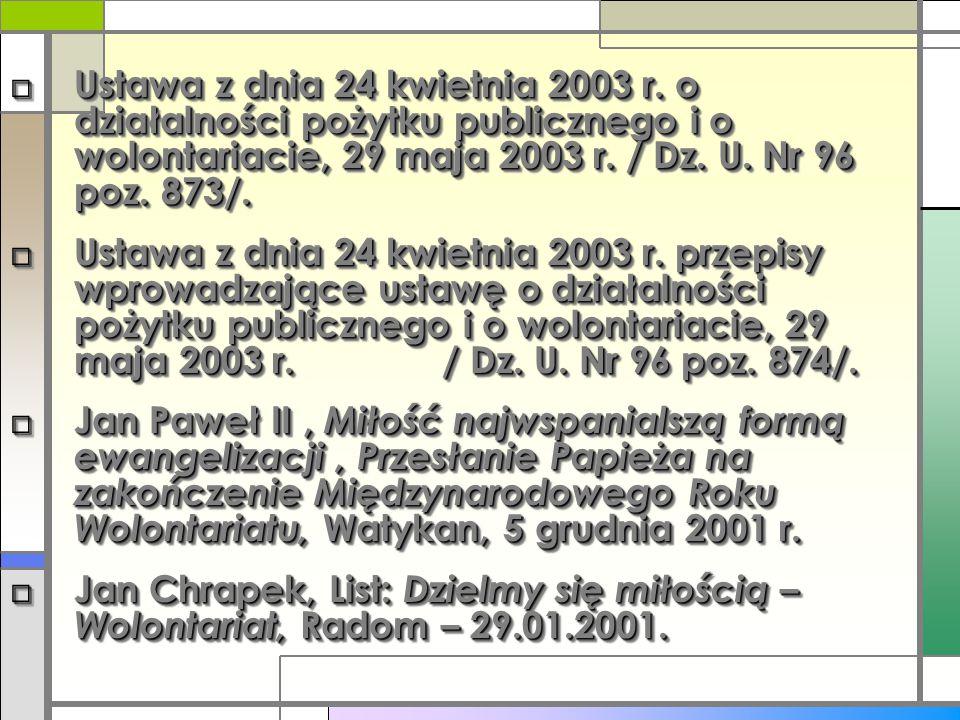 Ustawa z dnia 24 kwietnia 2003 r