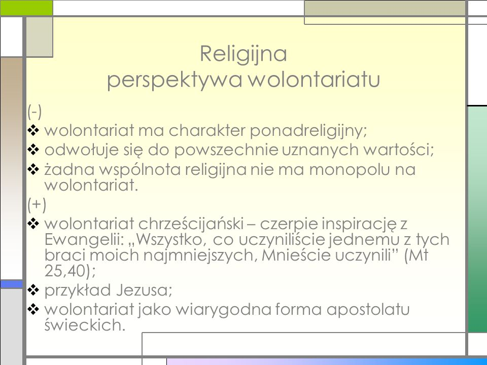 Religijna perspektywa wolontariatu