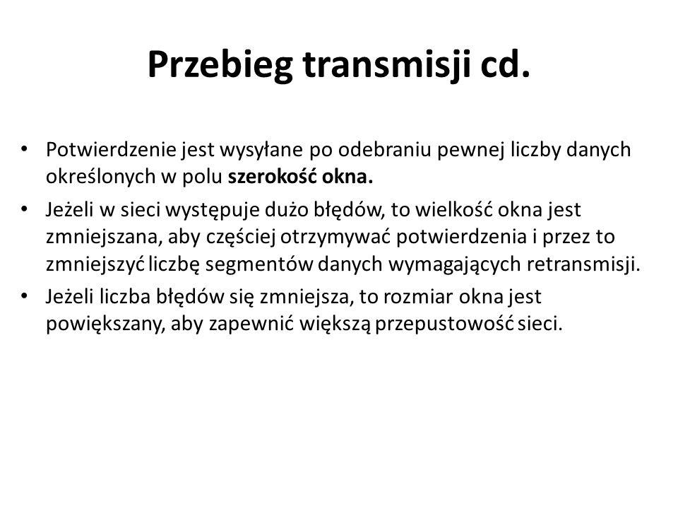 Przebieg transmisji cd.