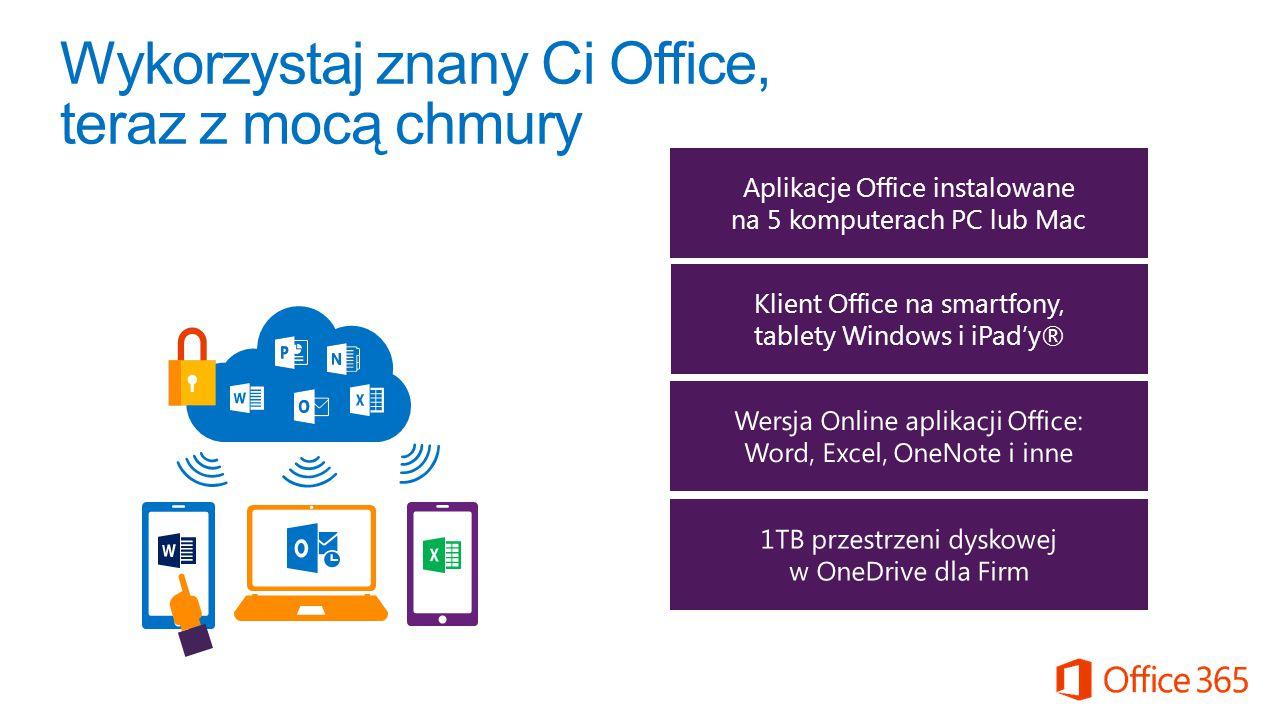 Wykorzystaj znany Ci Office, teraz z mocą chmury