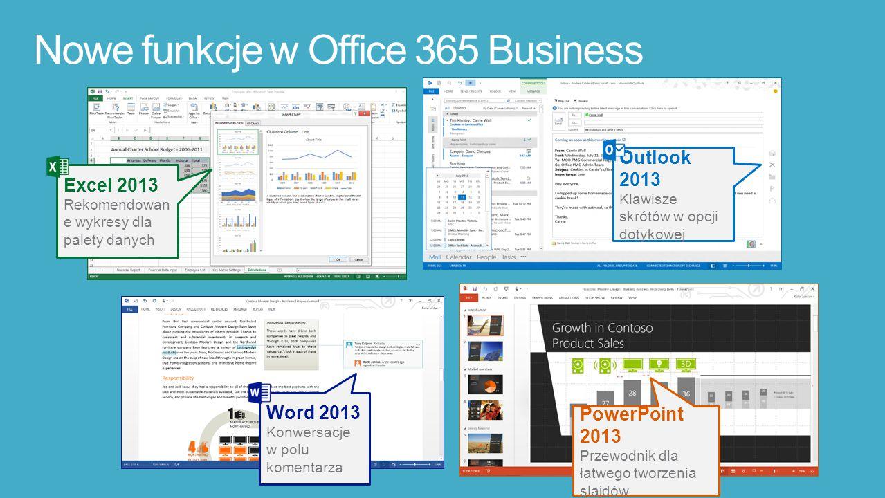 Nowe funkcje w Office 365 Business