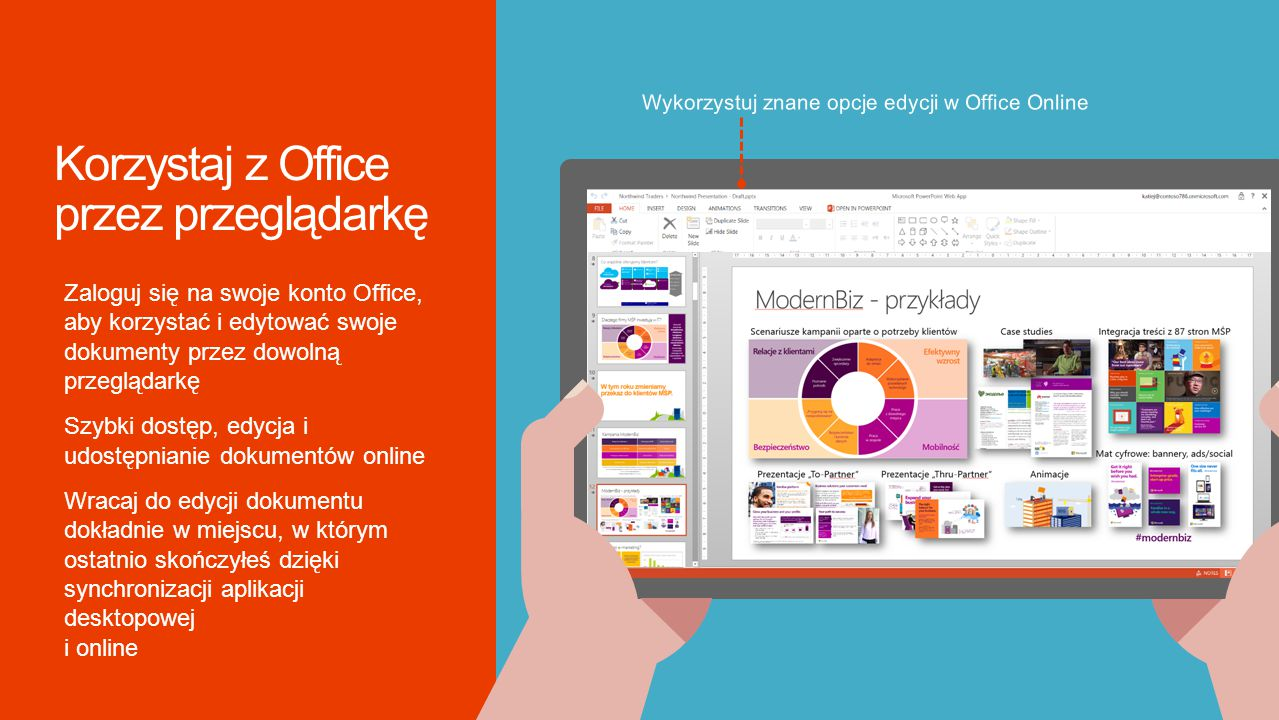 Korzystaj z Office przez przeglądarkę