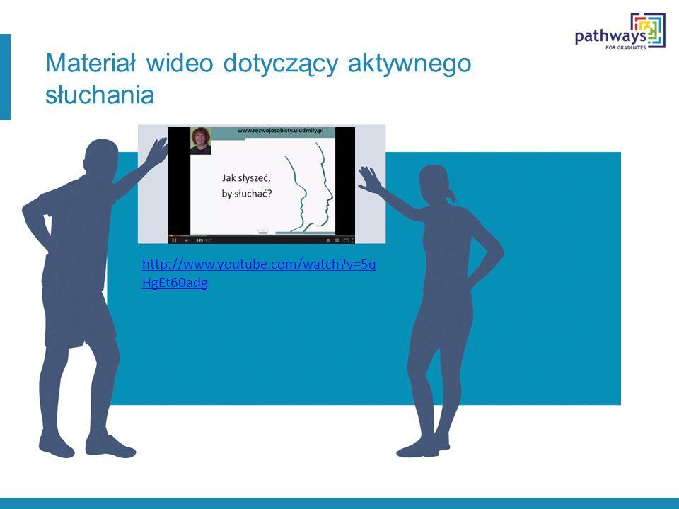 Materiał wideo dotyczący aktywnego słuchania