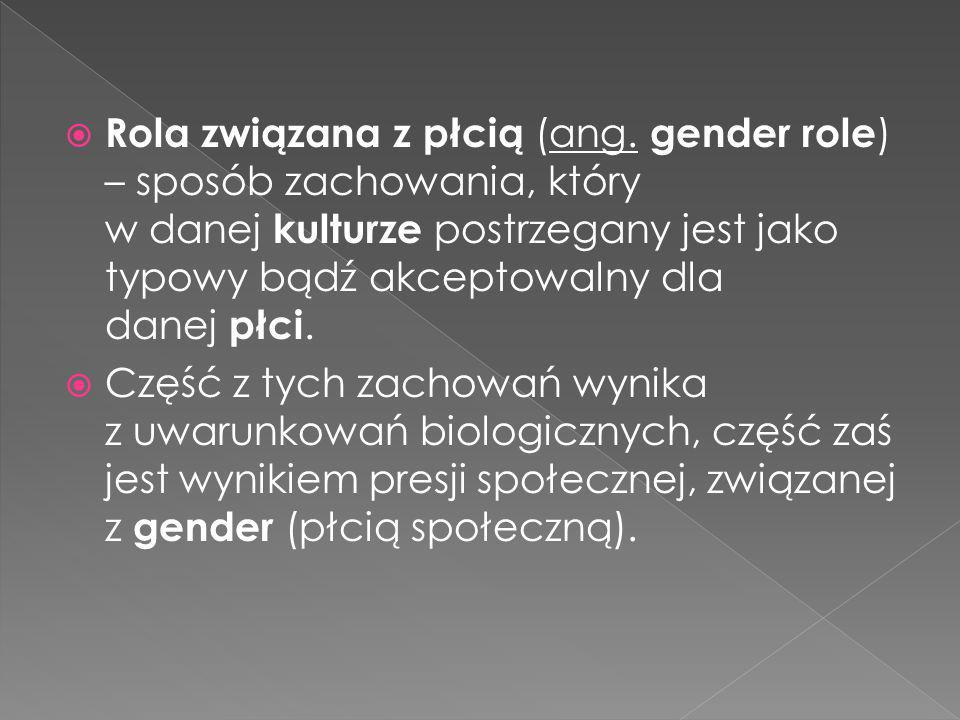 Rola związana z płcią (ang