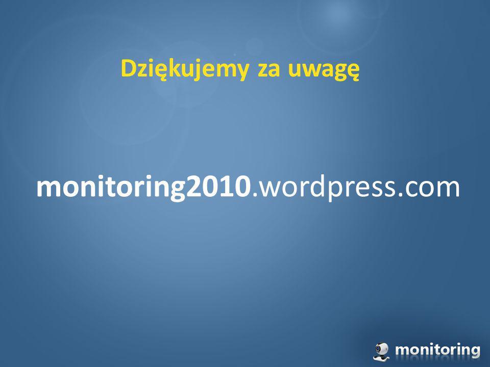 Dziękujemy za uwagę monitoring2010.wordpress.com