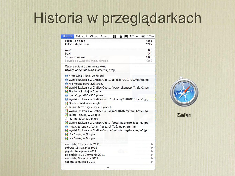 Historia w przeglądarkach