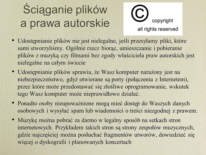 Ściąganie plików a prawa autorskie