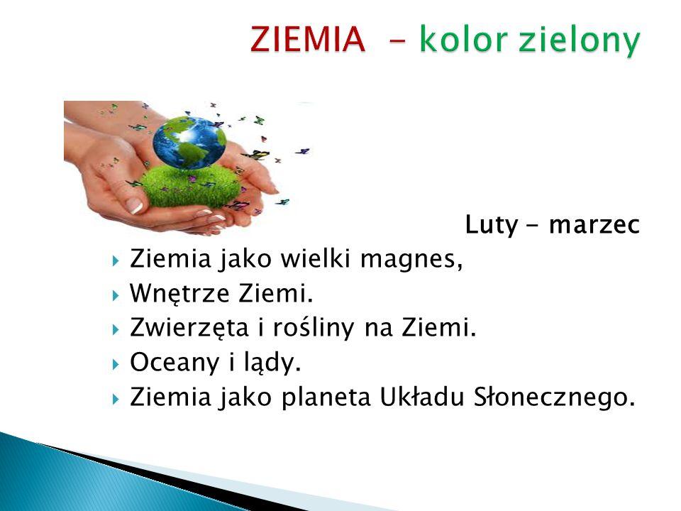 ZIEMIA - kolor zielony Luty - marzec Ziemia jako wielki magnes,