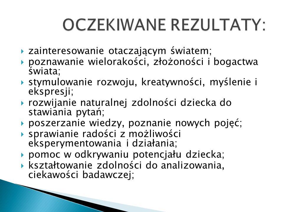 OCZEKIWANE REZULTATY: