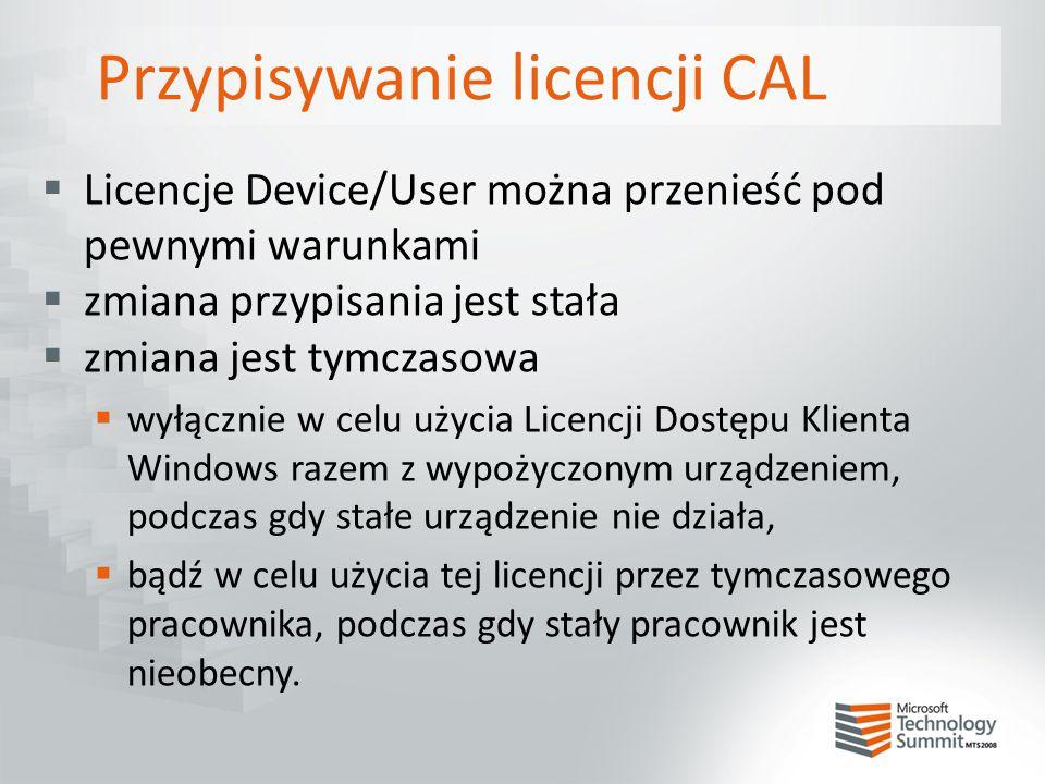 Przypisywanie licencji CAL