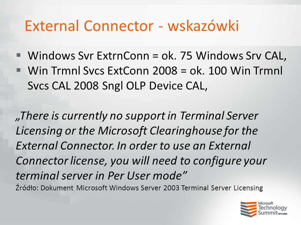 External Connector - wskazówki