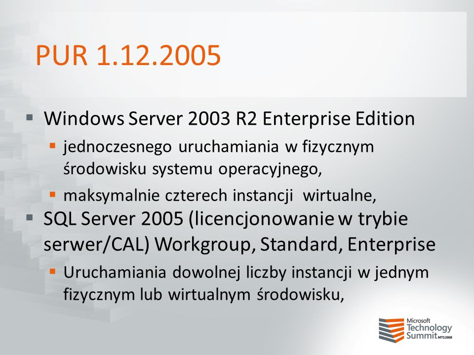 PUR 1.12.2005 Windows Server 2003 R2 Enterprise Edition